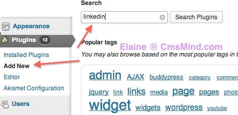 wordpress add linkedin button to posts cmsmind 1 Add Linkedin Share Button to your Wordpress Posts