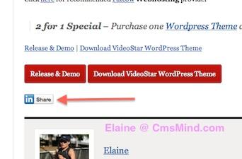 wordpress add linkedin button to posts cmsmind bottom of posts 6 Add Linkedin Share Button to your Wordpress Posts