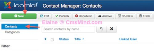 joomla 3 1 1 components contact manager new contact Joomla 3.1.1 Tutorial   How to Create New Contacts in Contact Manager