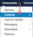 Joomla 3.1.1 Components Contacts Manager