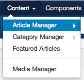 Joomla 3-1-1 Content Article Manager