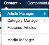 joomla 3 1 1 content article manager1 Joomla 3.0 Tutorial   How to Change Number of Articles Displayed on the Frontpage