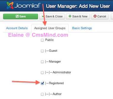 joomla 3 1 1 create new registered user user manager 3 Joomla 3.1.1 Tutorial   How to Manually Create a New Registered User