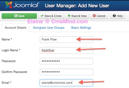 joomla 3 1 1 create new registered user user manager Joomla 3.1.1 Tutorial   How to Manually Create a New Registered User