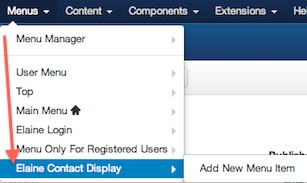 joomla 3 1 1 menu manager new menu created Joomla 3.1.1 Tutorial   How to Create a New Menu