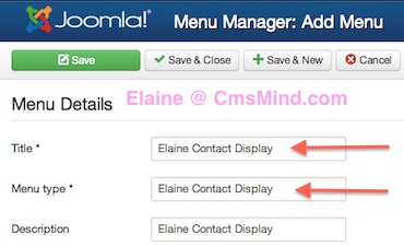 joomla 3 1 1 menu manager new menu details Joomla 3.1.1 Tutorial   How to Create a New Menu