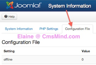 joomla 3 1 1 system information configuration file Joomla 3.1.1 Tutorial   What is my Database Name?
