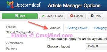 joomla 3 1 1 tutorial article manager options article tab Joomla 3.1.1 Tutorial   How to Hide Article Voting
