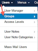 Joomla 3.1.1 User Manager User Groups