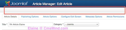 Joomla 3.0 Tutorial Editing article do not see save, save & close, save & new buttons
