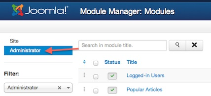 joomla 3 tutorial module manager administrator 3 Joomla 3.0 Tutorial   How to Enable Administrator Toolbar