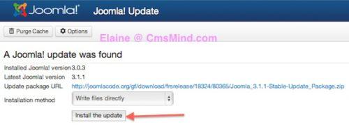 Joomla Tutorial - Install Joomla 3.1.1 Update
