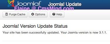 Joomla Tutorial - Upgrade Joomla to Joomla 3.1.1.  Successfully upgraded
