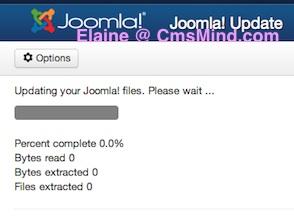 Joomla Tutorial - Joomla 3.1.1 install update status