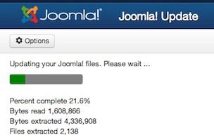 Joomla Tutotrial - Joomla 3.1.1 Status Upgrade Status