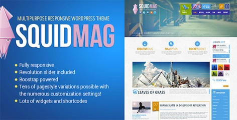 responsive business portfolio wordpress theme squidmag features Cost to Make a Modern Business Portfolio Site with Wordpress Theme   SquidMag