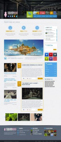 responsive business portfolio wordpress theme squidmag Cost to Make a Modern Business Portfolio Site with Wordpress Theme   SquidMag