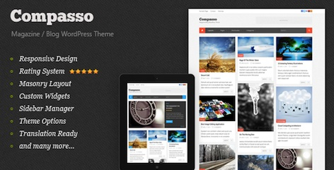 Responsive Magazine WordPress Theme - Compasso