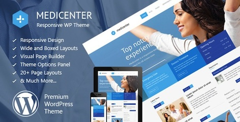 Responsive Medical Business WordPress Theme - MediCenter Features