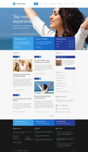 Demo Responsive Medical Business WordPress Theme - MediCenter