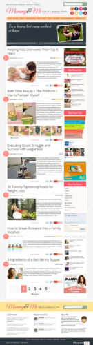 responsive moms blog wordpress theme mommy and me Cost to Make a Professional Moms Blog with Wordpress Theme   Mommy&Me