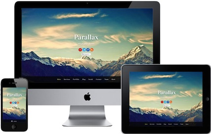 responsive parallax wordpress theme parallax features Responsive Parallax Scrolling Wordpress Theme   Parallax