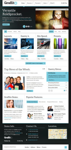 responsive portfolio wordpress theme graffito Cost to Make a Responsive Portofolio Site with Wordpress Theme   Graffito