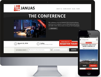 responsive event management planner wordpress theme januas 3 Create an Event Management Website with Wordpress Theme   Januas