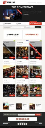 responsive event management planner wordpress theme januas Create an Event Management Website with Wordpress Theme   Januas