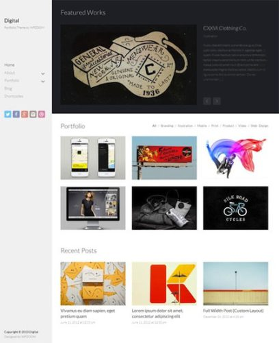 responsive portfolio wordpress theme digital Cost to Create a Responsive Portfolio Website with Wordpress Theme   Digital