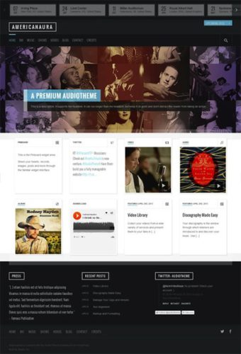 americanaura responsive music band wordpress theme 1 Cost to Make a Music Band Website with Wordpress Theme AmericanAura