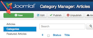 Joomla 3 New Category in Category Manager