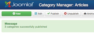 Joomla 3 Successfully Restored Deleted Categories