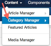 Joomla 3 Content Category Manager