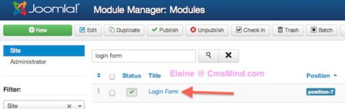 joomla 3 module manager login form 1 Joomla 3 Tutorial   How to Redirect Users On Login