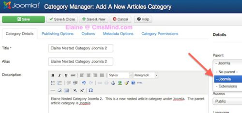 Joomla 3 Tutorial - Create nested Article Categories