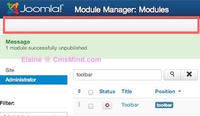 joomla 3 tutorial remove administrator toolbar 4 Joomla 3 Tutorial   How to Hide the Administrator Toolbar in Joomla