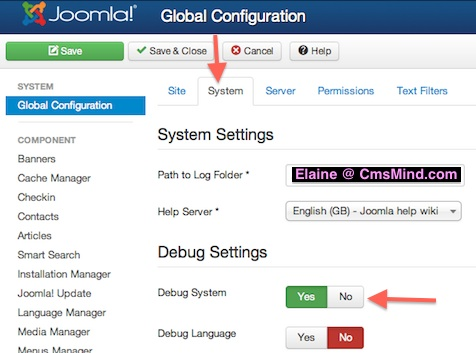 joomla 3 tutorial turn on debug mode cmsmind 2 Joomla 3 Tutorial   How to Turn On Debug Mode in Joomla