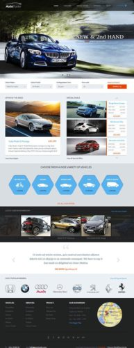 Responsive Car Dealership Site with Autotrader WordPress Theme