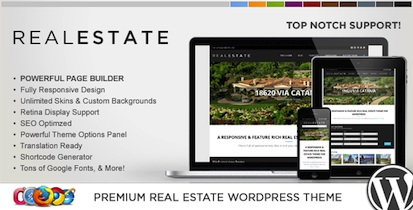 responsive flat design real estate wordpress theme wp pro real estate 5 2 Best Real Estate Themes