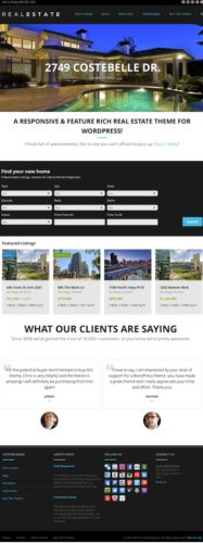 responsive flat design real estate wordpress theme wp pro real estate 5 Best Real Estate Themes