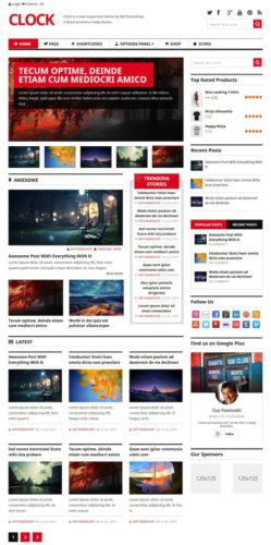 Responsive Magazine Online Store WordPress Theme - Clock
