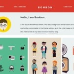 Click to visit Responsive, Cute, Simple and Flat Portfolio Wordpress Theme - Bonbon