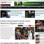 Thumbnail image for Professional Sports News WordPress Theme – SportsGazette