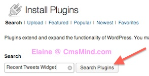 Wordpress Install Recent Tweets Plugin