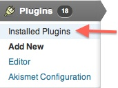 Wordpress Installed Plugins