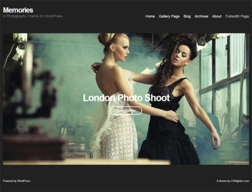 Responsive photography wordpress theme Memories WordPress theme Cost to Make a Photography Website with Wordpress Theme   Memories
