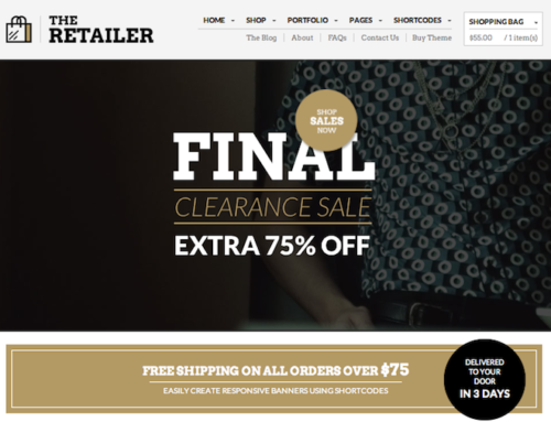 The Retailer Ecommerce Template Themeforest