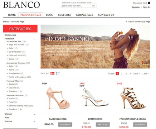 Blanco Ecommerce Template Themeforest