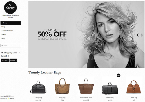 Cartsy Ecommerce WordPress Theme